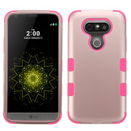Military Grade Certified TUFF Hybrid Armor Case for LG G5 - Rose Gold Hot Pink