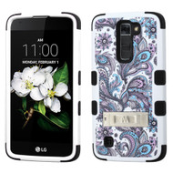 Military Grade Certified TUFF Image Hybrid Armor Case with Stand for LG K7 / Treasure LTE / Tribute 5 - Persian Paisley