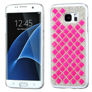 Desire Bling Bling Crystal Cover for Samsung Galaxy S7 Edge - Diamond Hot Pink