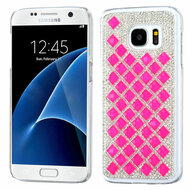 Desire Bling Bling Crystal Cover for Samsung Galaxy S7 - Diamond Hot Pink