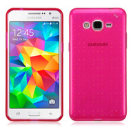 Perforated Transparent Cushion Gelli Case for Samsung Galaxy Grand Prime - Hot Pink