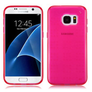 Perforated Transparent Cushion Gelli Case for Samsung Galaxy S7 - Hot Pink