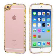 Aluminum Diamond Bumper Case for iPhone 6 / 6S - Purple Gold