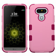 Military Grade Certified TUFF Hybrid Armor Case for LG G5 - Soft Pink Rose