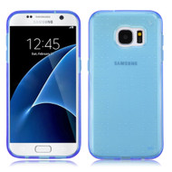 Perforated Transparent Cushion Gelli Case for Samsung Galaxy S7 - Blue