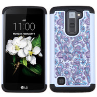 TotalDefense Diamond Hybrid Case for LG K7 / K8 / Escape 3 / Treasure LTE / Tribute 5 - Persian Paisley
