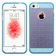 Perforated Transparent Cushion Gelli Case for iPhone SE / 5S / 5 - Blue