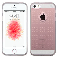 Perforated Transparent Cushion Gelli Case for iPhone SE / 5S / 5 - Smoke