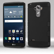 Military Grade Certified TUFF Trooper Dual Layer Hybrid Armor Case for LG G Stylo / Vista 2 - Black