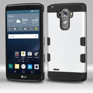 Military Grade Certified TUFF Trooper Dual Layer Hybrid Armor Case for LG G Stylo / Vista 2 - Silver