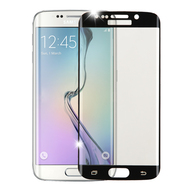 Curved Coverage Premium Tempered Glass Screen Protector for Samsung Galaxy S6 Edge - Black