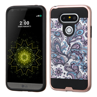 Brushed Graphic Hybrid Armor Case for LG G5 - Persian Paisley