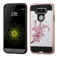 Brushed Graphic Hybrid Armor Case for LG G5 - Spring Flowers