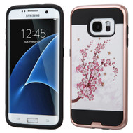 Brushed Graphic Hybrid Armor Case for Samsung Galaxy S7 Edge - Spring Flowers