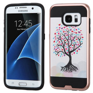 Brushed Graphic Hybrid Armor Case for Samsung Galaxy S7 Edge - Love Tree
