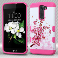 Military Grade TUFF Trooper Hybrid Case for LG K7 / K8 / Escape 3 / Treasure LTE / Tribute 5 - Spring Flowers