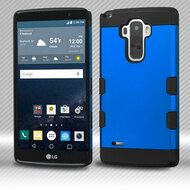 Military Grade Certified TUFF Trooper Dual Layer Hybrid Armor Case for LG G Stylo / Vista 2 - Blue