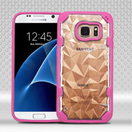 Challenger Polygon Hybrid Case for Samsung Galaxy S7 - Hot Pink
