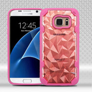 Challenger Polygon Hybrid Case for Samsung Galaxy S7 - Hot Pink Rose Gold