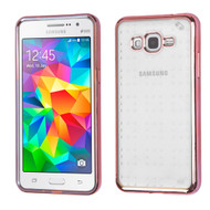 SPOTS Electroplated Premium Candy Skin Cover for Samsung Galaxy Grand Prime - Rose Gold