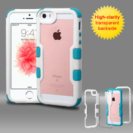 TUFF Vivid Hybrid Armor Case for iPhone SE / 5S / 5 - White Teal