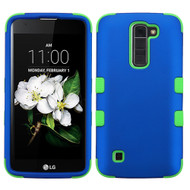 Military Grade Certified TUFF Hybrid Armor Case for LG K7 / Treasure LTE / Tribute 5 - Blue Green