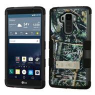 Military Grade Certified TUFF Image Hybrid Kickstand Case for LG G Stylo / Vista 2 - Cedar Tree Camouflage