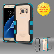 TUFF Vivid Hybrid Armor Case for Samsung Galaxy S7 - Black Teal
