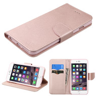 Diary Leather Wallet Case for iPhone 6 Plus / 6S Plus - Rose Gold