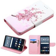 Executive Graphic Leather Wallet Case for LG G Stylo / Vista 2 - Spring Flowers