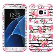 Military Grade TUFF Image Hybrid Case for Samsung Galaxy S7 Edge - Fresh Roses
