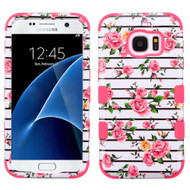 Military Grade Certified TUFF Image Hybrid Case for Samsung Galaxy S7 - Fresh Roses