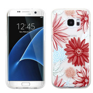 Premium Perforated Transparent Cushion Gelli Case for Samsung Galaxy S7 Edge - Spring Daisies