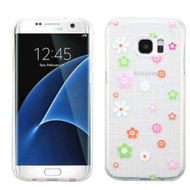 Premium Perforated Transparent Cushion Gelli Case for Samsung Galaxy S7 Edge - Tiny Blossoms