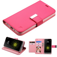 Essential Leather Wallet Stand Case for LG G5 - Hot Pink