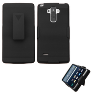 Armor Shell Case with Holster for LG G Stylo / Vista 2 - Black