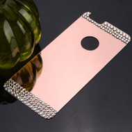 Diamond Electroplated Acrylic Back Plate for iPhone 6 / 6S - Rose Gold