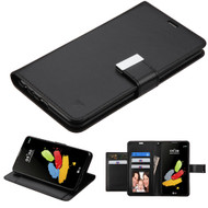 Essential Leather Wallet Stand Case for LG G Stylo 2 / Stylus 2 - Black