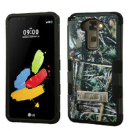 Military Grade Certified TUFF Image Hybrid Armor Case with Stand for LG G Stylo 2 / Stylus 2 - Cedar Tree Camouflage