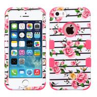 Military Grade TUFF Image Hybrid Case for iPhone SE / 5S / 5 - Fresh Roses