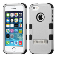 Military Grade Certified TUFF Hybrid Kickstand Case for iPhone SE / 5S / 5 - Grey