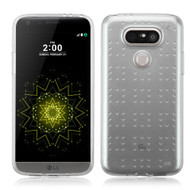 Perforated Transparent Cushion Gelli Case for LG G5 - Clear