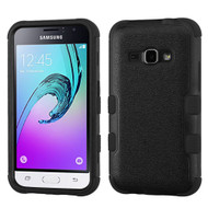 Military Grade Certified TUFF Hybrid Armor Case for Samsung Galaxy Amp 2 / Express 3 / J1 (2016) - Black