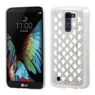 Desire Bling Bling Crystal Cover for LG K10 / Premier LTE - Diamond Silver