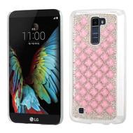 Desire Bling Bling Crystal Cover for LG K10 / Premier LTE - Diamond Pink