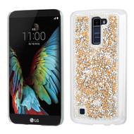 Desire Bling Bling Crystal Cover for LG K10 / Premier LTE - Rhinestones Gold