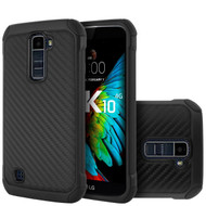 *SALE* Tough Anti-Shock Hybrid Case for LG K10 / Premier LTE - Carbon Fiber
