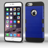 *SALE* Military Grade TUFF Trooper Dual Layer Hybrid Case for iPhone 6 Plus / 6S Plus - Brushed Blue