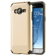 Silkee Anti Shock Hybrid Armor Case for Samsung Galaxy Amp Prime / Express Prime / J3 / Sol - Gold