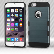 Military Grade Certified TUFF Trooper Dual Layer Hybrid Case for iPhone 6 Plus / 6S Plus - Brushed Slate Blue